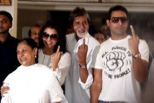 Amitabh, Jaya, Abhishek and Aishwarya Bachchan